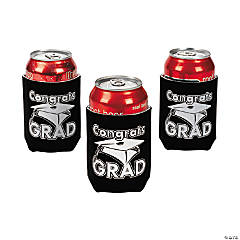 """Congrats Grad"" Black Can Covers"