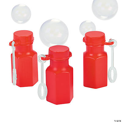 Mini Hexagon Red Bubble Bottles
