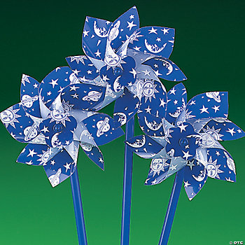 Plastic Glow-in-the-Dark Celestial Pinwheels