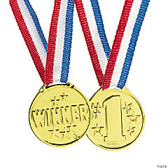 "Goldtone ""Winner"" Medals"