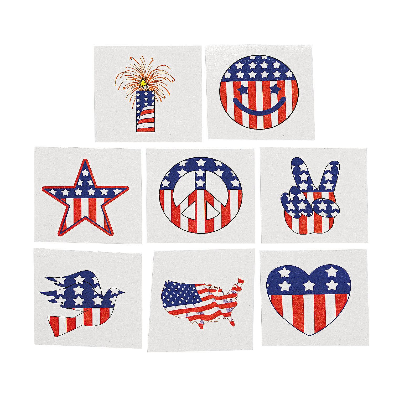 Patriotic Tattoos  Oriental Trading