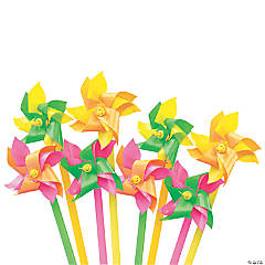 Mini Neon Two-Tone Pinwheels