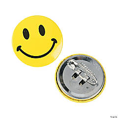 Metal Mini Smile Face Buttons