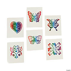 Glittery Rainbow Tattoos