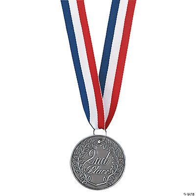 "Silver ""2nd Place"" Medallions"