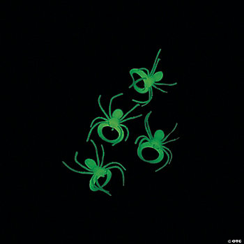 Glow-In-The-Dark Spider Rings