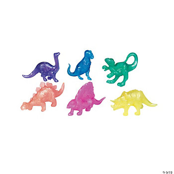 Pearlized Squishy Dinosaurs
