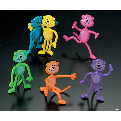 48 Vinyl Bendable Neon Monkeys