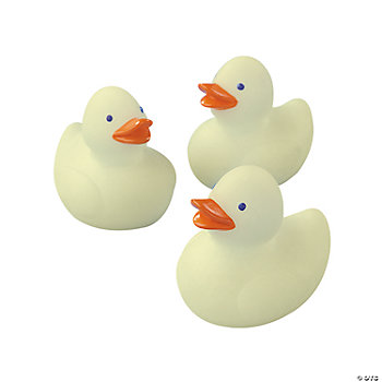 Mini Glow In The Dark Rubber Duckies Oriental Trading