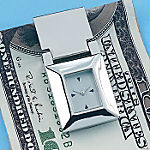 Personalized Money Clip With Clock