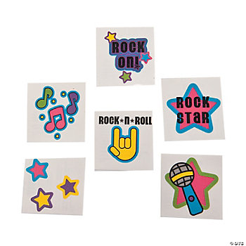 Rock Star Glitter Tattoos