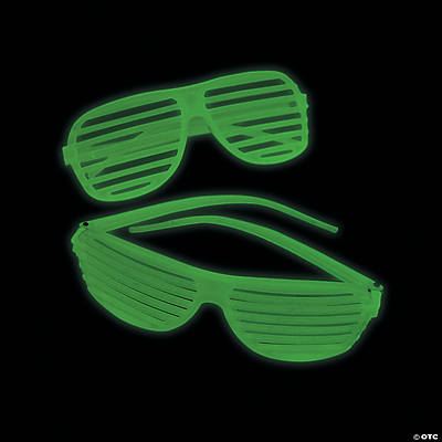 Glow-in-the-Dark Shutter Shading Glasses