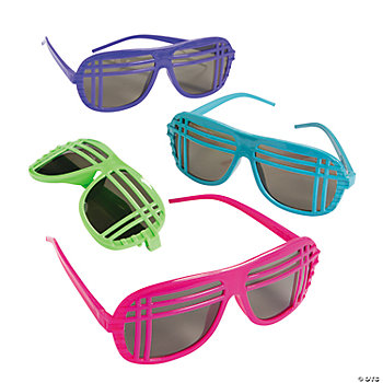 Neon '80's Sunglasses