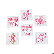 Inspirational Pink Ribbon Tattoos