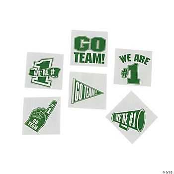 """Go Team!"" Tattoos - Green"