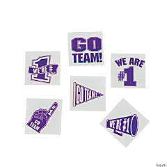 Purple Go Team Tattoos