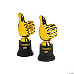 "Plastic ""Thumbs Up"" Award Trophies"