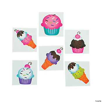 Sweet Treats Glitter Tattoos