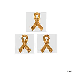 Yellow Awareness Ribbon Tattoo Stickers