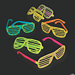 Bright Color Glow-in-the-Dark Shutter Shading Sunglasses