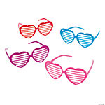 Heart-Shaped Shutter Shading Glasses