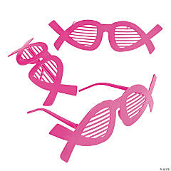 Pink Ribbon Shutter Shading Glasses