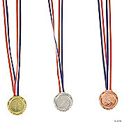 """1st"", ""2nd"" & ""3rd"" Place Award Medals"