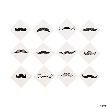 Fingerstache Tattoo Assortment
