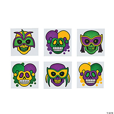 Glitter Day of the Dead Tattoos