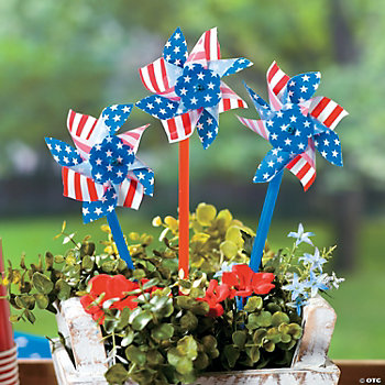 Stars And Stripes Pinwheels