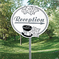 "Wedding ""Reception"" Yard Sign"