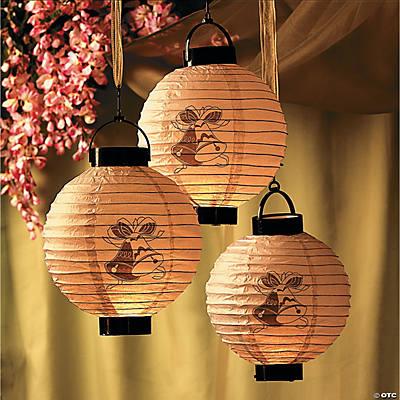 Oriental Lantern Lights Bells Light-up Lanterns