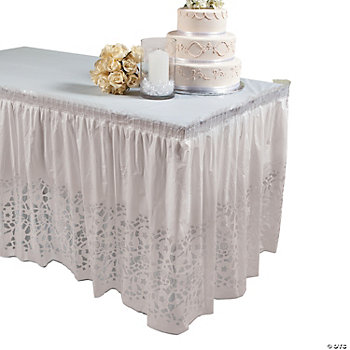 Lace-Printed Table Skirt