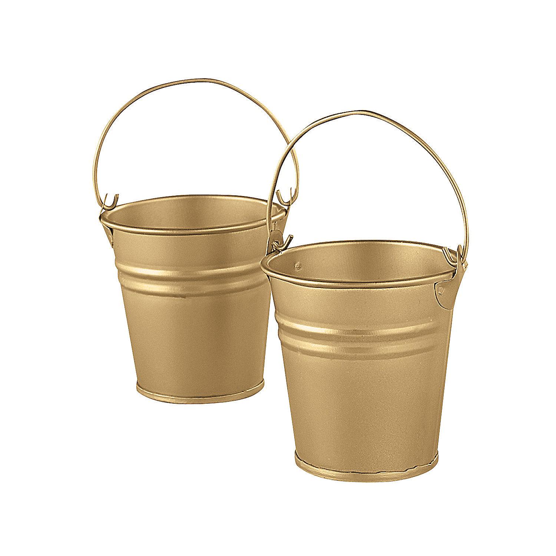 Goldtone mini buckets oriental trading