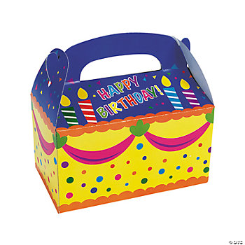 """Happy Birthday!"" Treat Boxes"