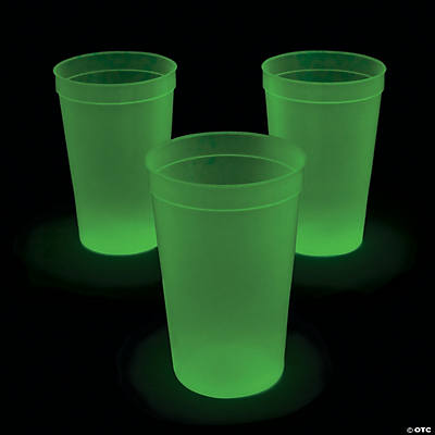 Extra Large Glow In The Dark Cups Oriental Trading