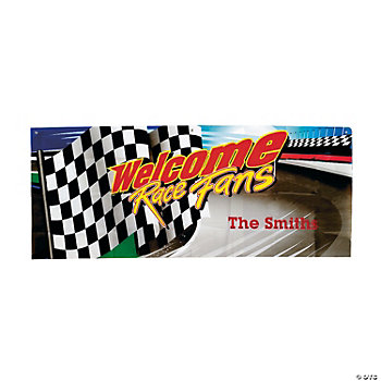 "Personalized ""Welcome Race Fans"" Banner"
