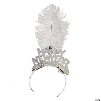 Silver Tiaras With Feathers Assortment