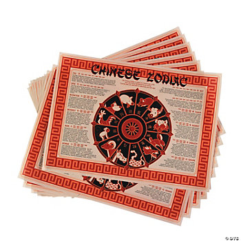 Chinese New Year Zodiac Place Mats