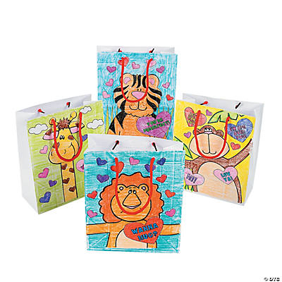 Color Your Own Valentine Gift Bags