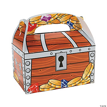 Card Stock Treasure Chest Treat Boxes