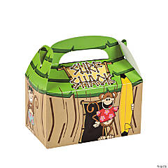 Cardboard Beach Monkey Tiki Hut Treat Boxes