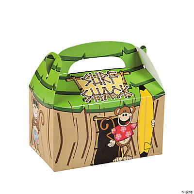 Beach Monkey Tropical Hut Treat Boxes