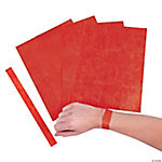 Red Self-Adhesive Wrist Tickets