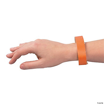 Orange Self-Adhesive Wrist Tickets