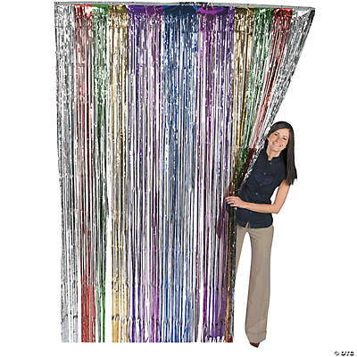Metallic Rainbow Fringe Curtain