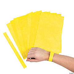 Yellow Self-Adhesive Wrist Tickets