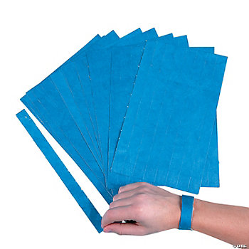 Blue Self-Adhesive Wrist Tickets