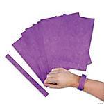 Purple Self-Adhesive Wristbands