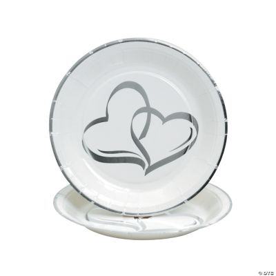 Two Hearts Dessert Plates